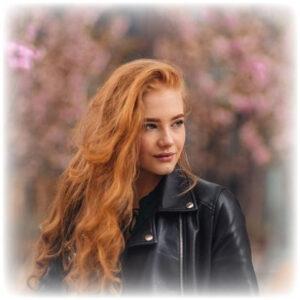 Woman with European hair